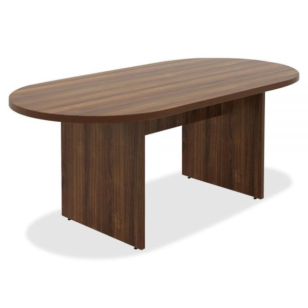 Lorell Chateau Series Walnut Oval 6' Conference Table