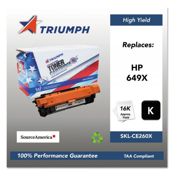 Triumph Remanufactured HP 649X (CE260X) Toner Cartridge