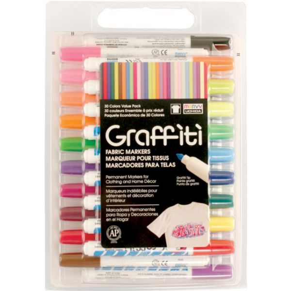 Graffiti Fabric Markers Value Set 30/Pkg