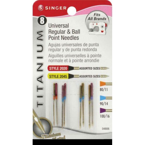 Titanium Universal Regular & Ball Point Machine Needles