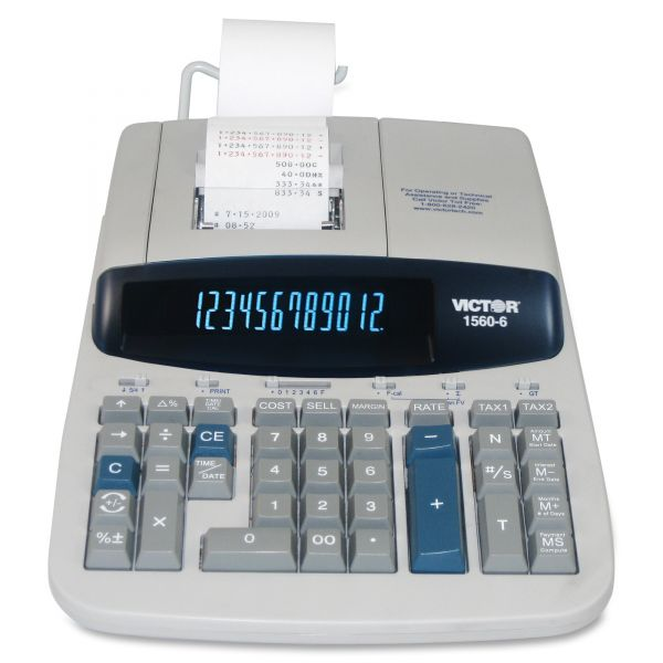 Victor 1560-6 Professional Heavy Duty Printing Calculator with Financial/Loan Calculations