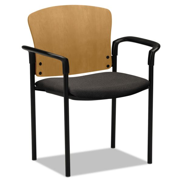 HON Pagoda 4091 Series Stack Chair with Wood Back