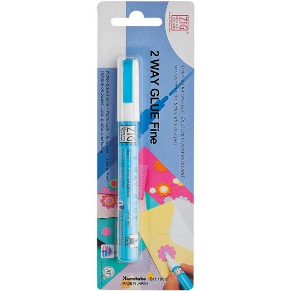 Zig 2-Way Glue Pen Carded