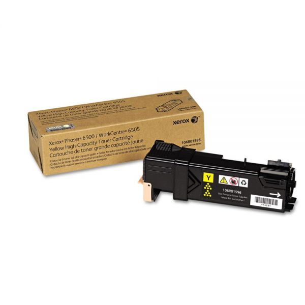 Xerox 106R01596 Yellow High Yield Toner Cartridge