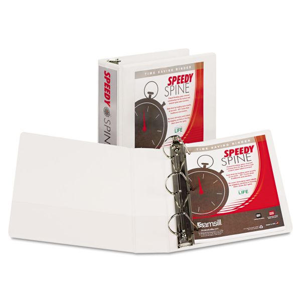 "Samsill Speedy Spine 3"" 3-Ring View Binder"