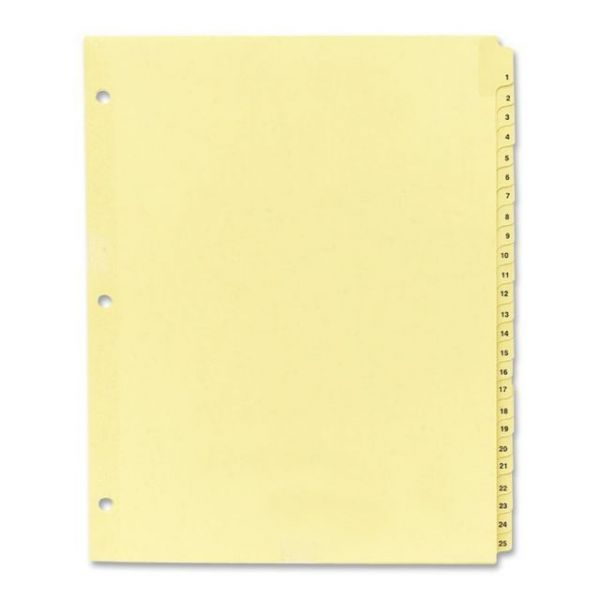 Sparco Numbered Tab Index Dividers