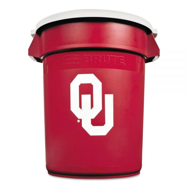 Rubbermaid Team Brute 32 Gallon Trash Can With Lid
