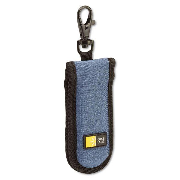 Case Logic USB Drive Shuttle, Holds 2 USB Drives, Blue