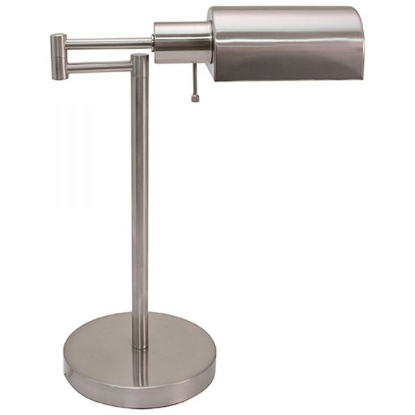 "Ledu Adjustable Full Spectrum Table Lamp, Brushed Steel, 15-1/2"" High"