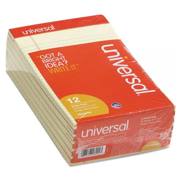Universal Junior Yellow Legal Pads