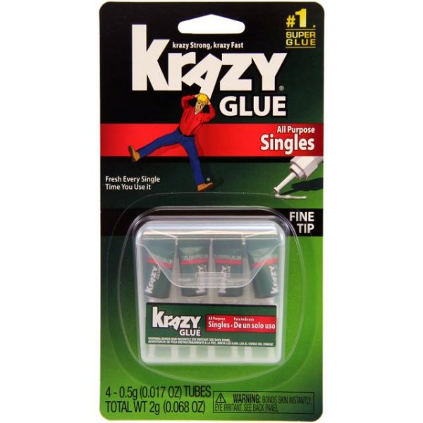 Krazy Glue(R) All-Purpose Singles 4/Pkg
