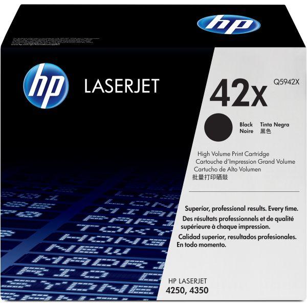 HP 42X Black High Yield Toner Cartridge (Q5942X)