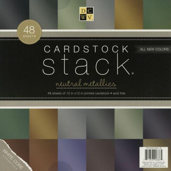 Neutral Metallic Cardstock Stack
