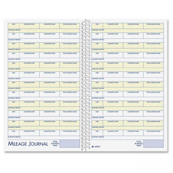 Adams Vehicle Mileage and Expense Book, 5 1/4 x 8 1/2, 49 Forms, 63 Pages