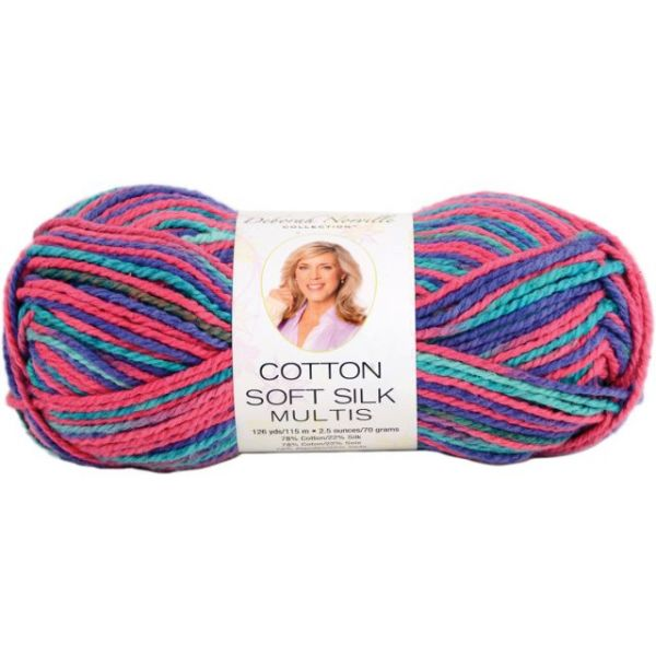 Deborah Norville Cotton Soft Silk Yarn - Stained Glass