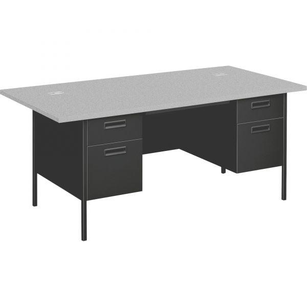 "HON Metro Classic Double Pedestal Desk   2 Box / 2 File Drawers   72""W"
