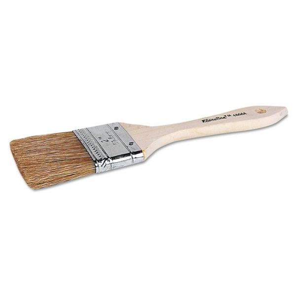 "Weiler ECO-2 2"" Disposable Chip and Oil Brush, White, 2"" Hog Bristle, Wood"