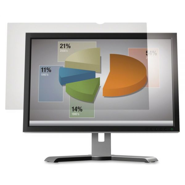"3M AG19.5W9 Anti-Glare Filter for Widescreen Desktop LCD Monitors 19.5"" Clear"