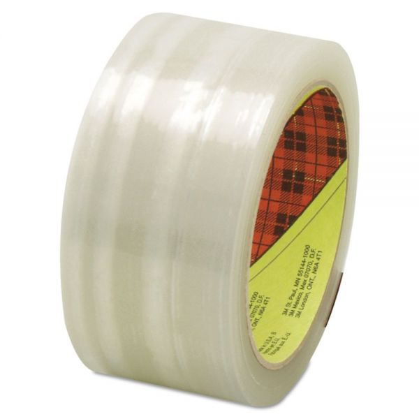 3M Scotch 373 High Performance Box Sealing Tape, Clear, 48mm x 50m
