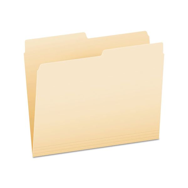 Pendaflex File Folders, 1/2 Cut, Top Tab, Letter, Manila, 100/Box