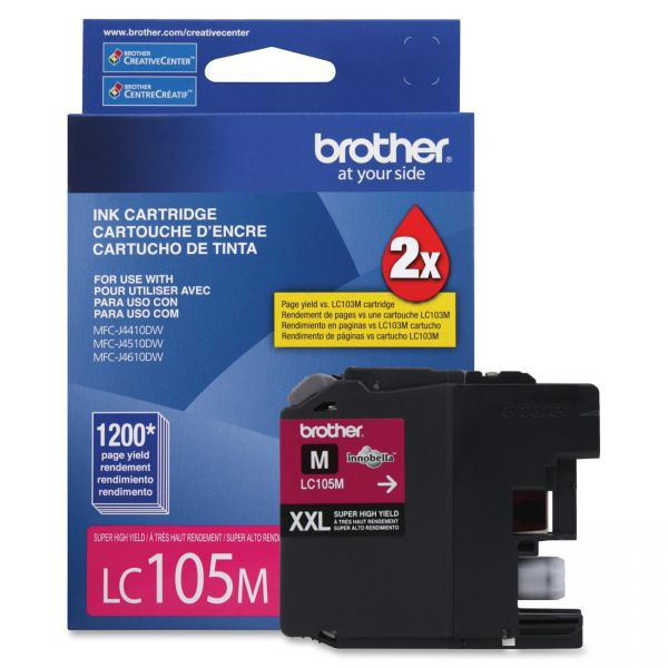 Brother LC105M Magenta Super High Yield Ink Cartridge
