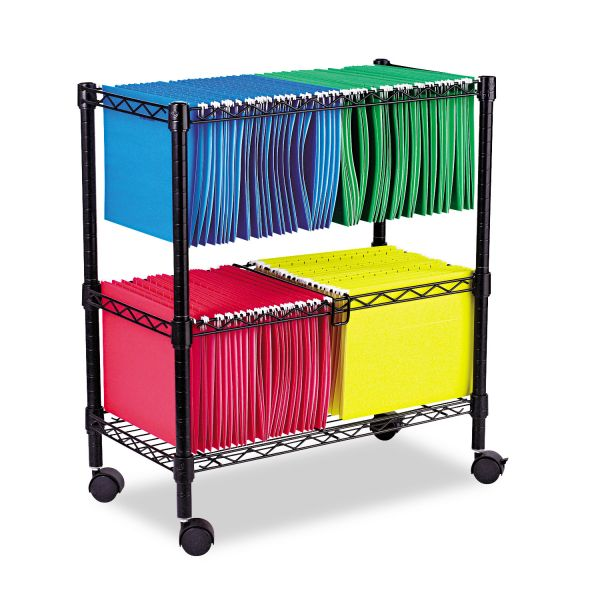 Alera Two-Tier Rolling File Cart
