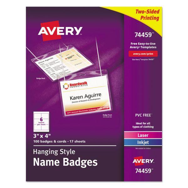 Avery Hanging Name Badges