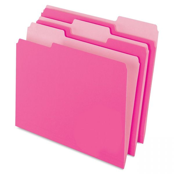 Pendaflex Pink Colored File Folders