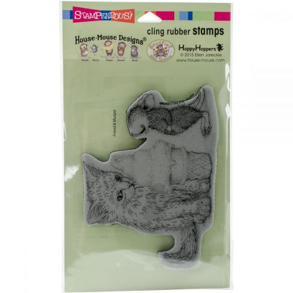 "Stampendous House Mouse Cling Stamp 7.75""X4.5"""