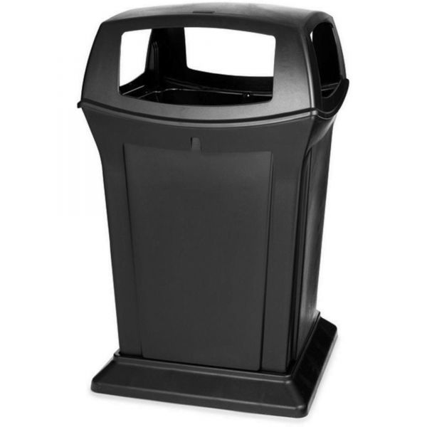 Rubbermaid Ranger 45 Gallon Trash Can With 4 Openings