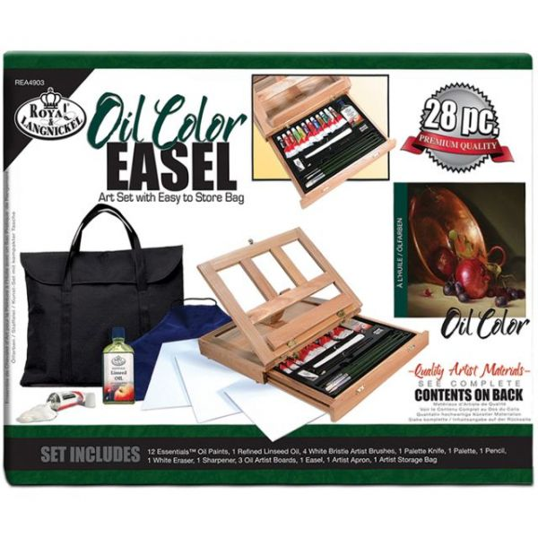 Oil Color Easel Art Set With Easy To Store Bag
