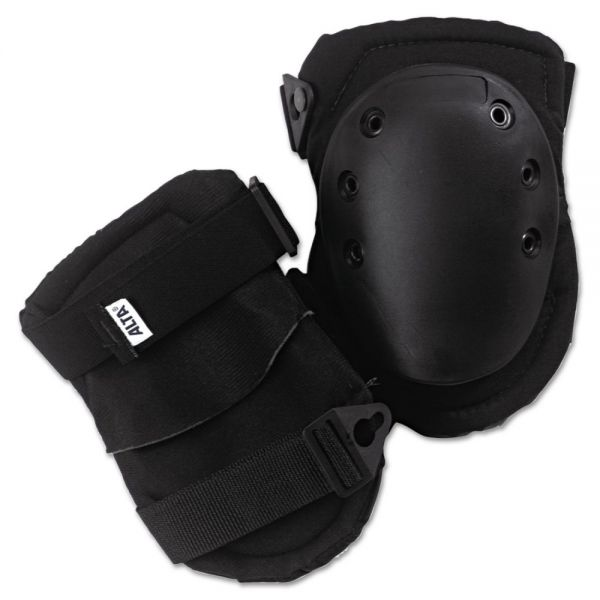 ALTA AltaLok Knee Pads, Fastener Closure, Neoprene/Nylon, Rubber, Black