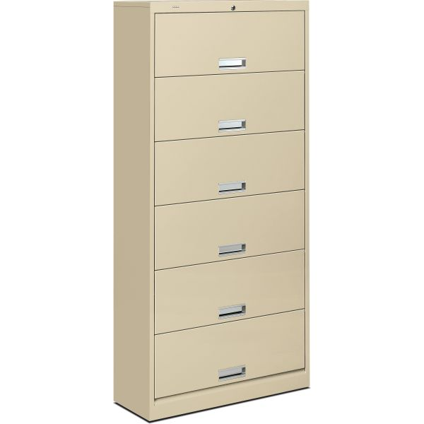 HON Brigade 600 Series 6-Shelf File Cabinet