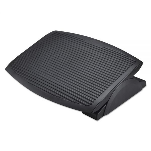 Alera Ergo Tilt Footrest, 13 3/4w x 17 3/4d x 3 3/8 to 5 1/8h, Black