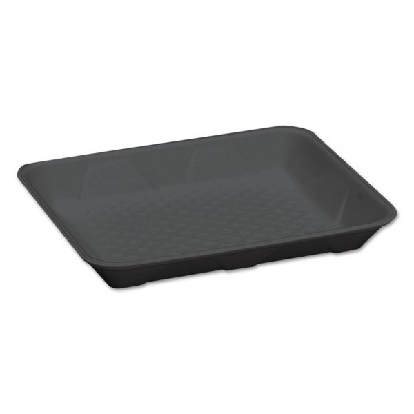 Genpak Supermarket Trays, Black, Foam, 9 1/4 x 7 1/4 x 1 1/4, 125/Bag, 4 Bags/Carton