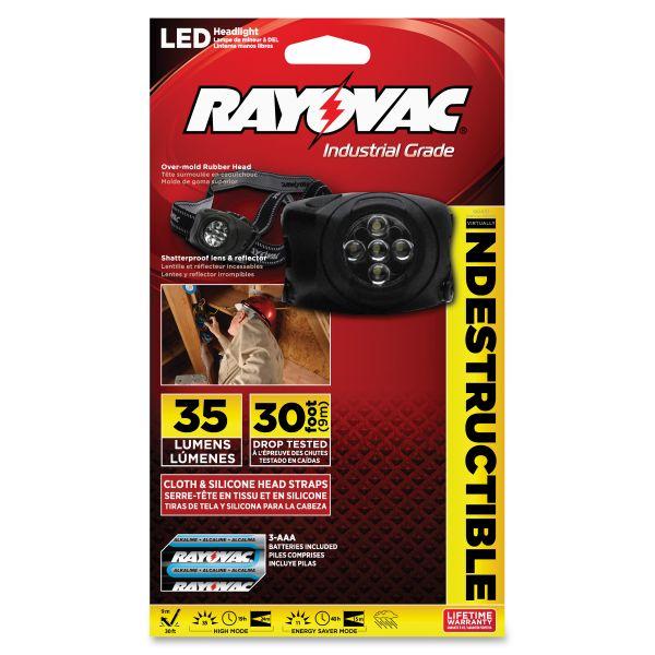 Rayovac Virtually Indestructible LED Flashlight Headlamp