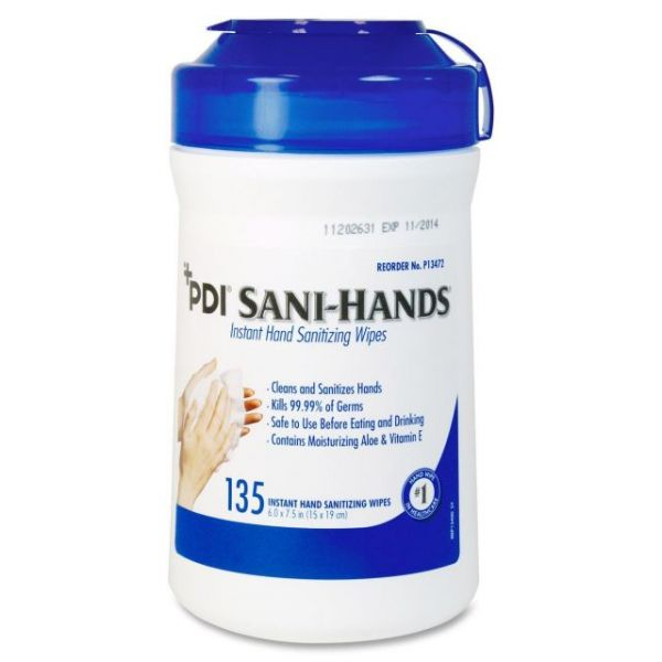 PDI Sani-Hands Disinfectant Hand Sanitizing Wipes