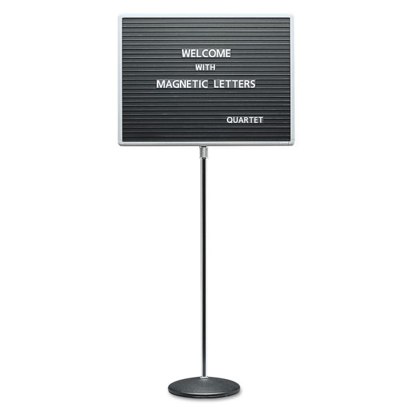 Quartet Adjustable Single Pedestal Letter Board