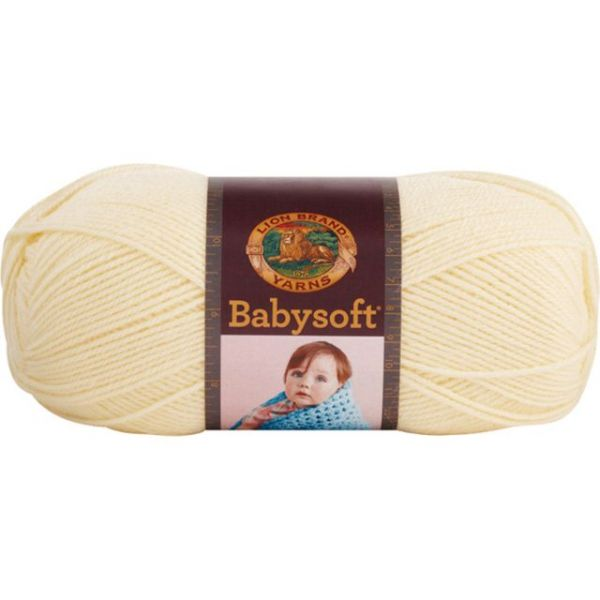 Lion Brand Baby Soft Yarn - Pastel Yellow