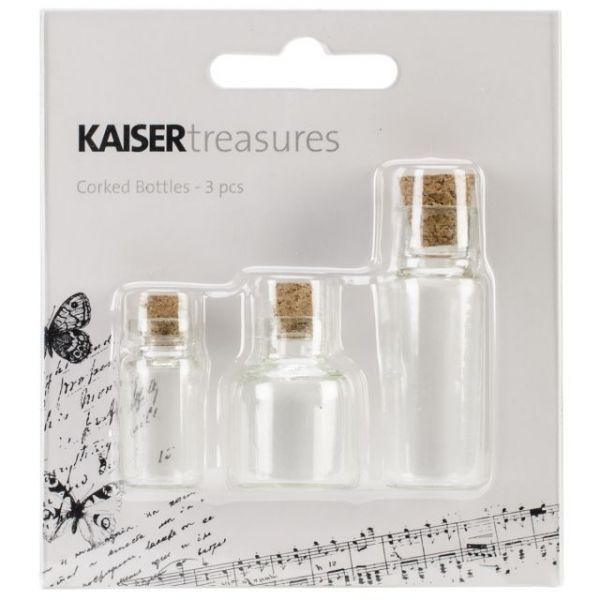 Treasures Corked Bottles 3/Pkg