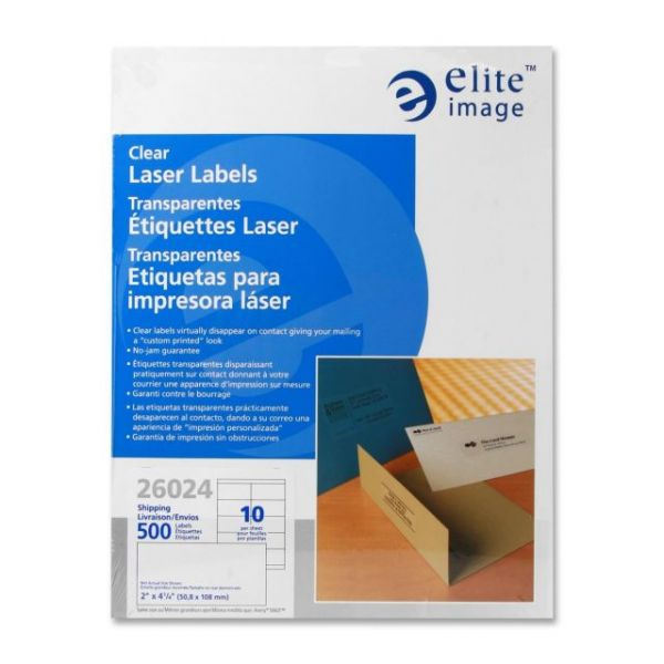 Elite Image Clear Shipping Labels