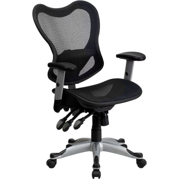 Flash Furniture Mid-Back Mesh Executive Office Chair with Triple Paddle Control