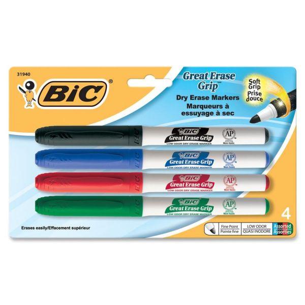 BIC Great Erase Grip Dry Erase Markers