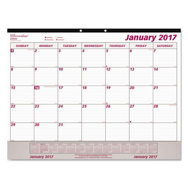 Brownline Monthly Desk Pad Calendar