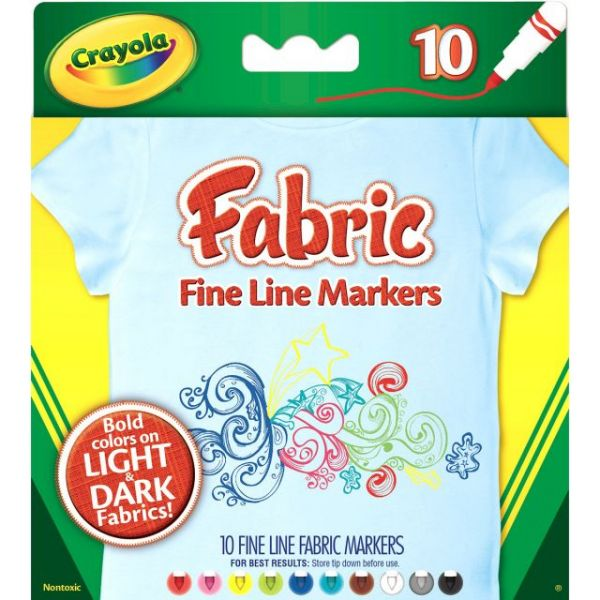 Crayola Fine Line Fabric Markers