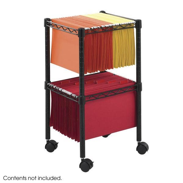 Safco Two-Tier Compact Mobile Wire File Cart