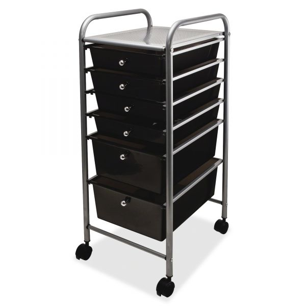 Advantus Portable Six-Drawer Organizer Cart