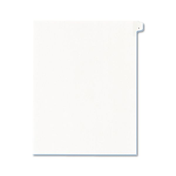 Avery Allstate-Style Legal Exhibit Side Tab Divider, Title: 1, Letter, White, 25/Pack