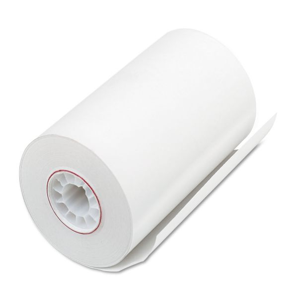 "PM Company Single Ply Thermal Cash Register/POS Rolls, 3 1/8"" x 90 ft., White, 72/CT"