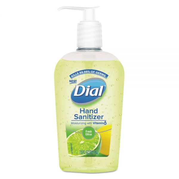 Dial Scented Antibacterial Hand Sanitizer, Fresh Citrus, 7.5 oz Bottle